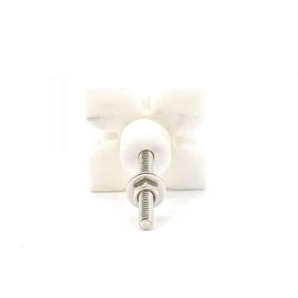 DSC 0403 White Petaled Marble Knob 600x600 - White Petaled Marble Knob