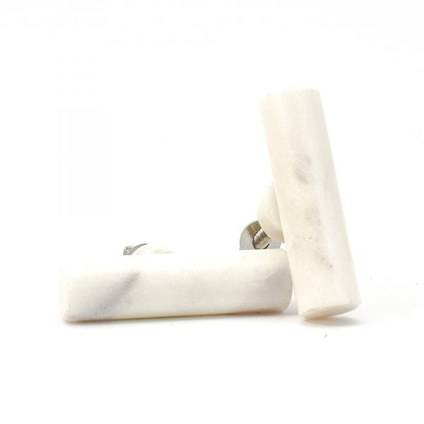Cylindrical White Marble Pull