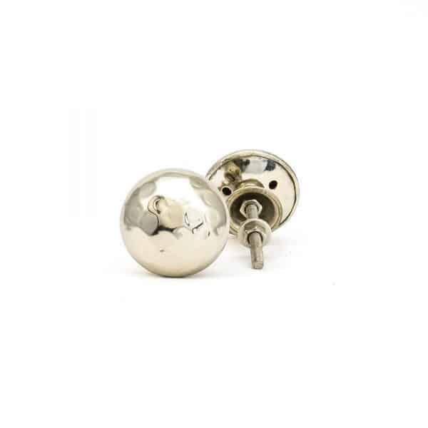 Silver Hammered Knob