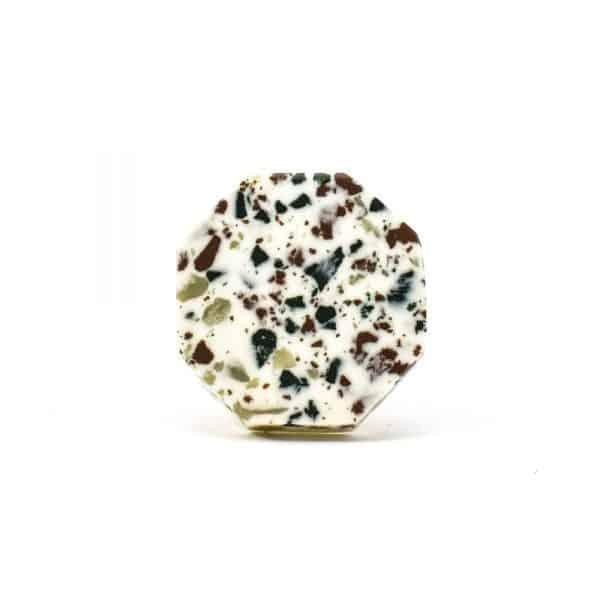 DSC 0667 Hexagon green speckle terazzo  600x600 - Octagon Resin Terrazzo Knob
