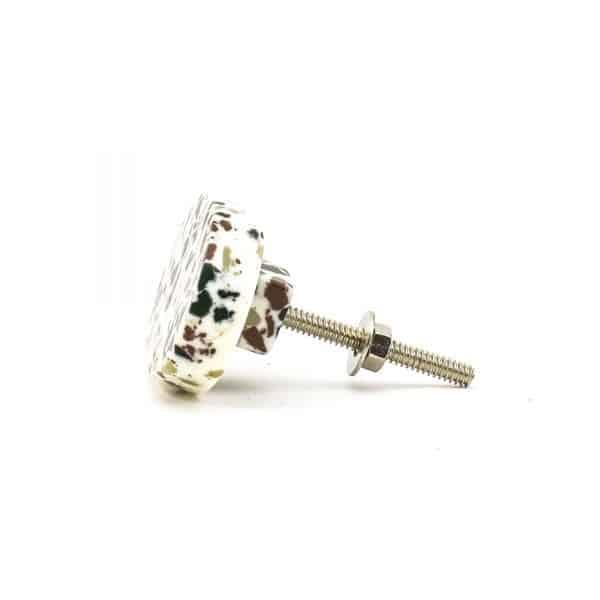 DSC 0677 Oval green speckle terazzo  600x600 - Oval Resin Terrazzo Knob
