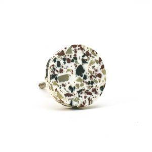 DSC 0684 Round green speckle terazzo  300x300 - Circle Resin Terrazzo Knob