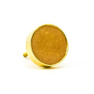 DSC 0752 Round brass edge and brown stone knob 300x300 - Sandstone Brass Knob