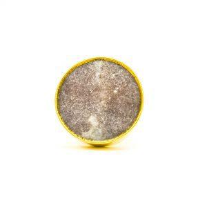 Brown Marble Brass Knob