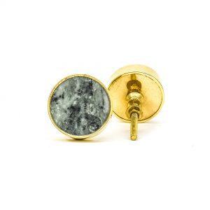 Green Marble Brass Knob