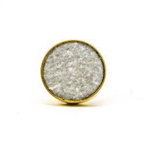 Grey Crystal Stone Brass Knob
