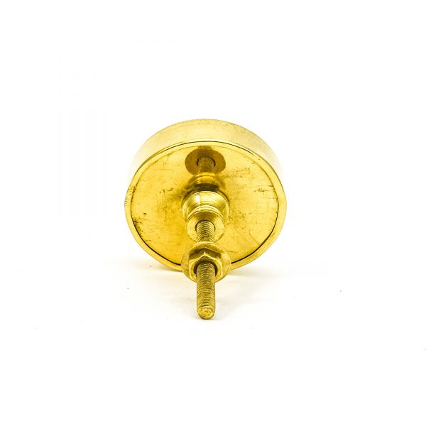 DSC 0797 Round brass edge and light grey stone knob 600x600 - Grey Crystal Stone Brass Knob