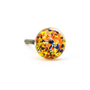 DSC 0811 Multicoloured glass ball knob 300x300 - Mulitcoloured Glass Ball Knob