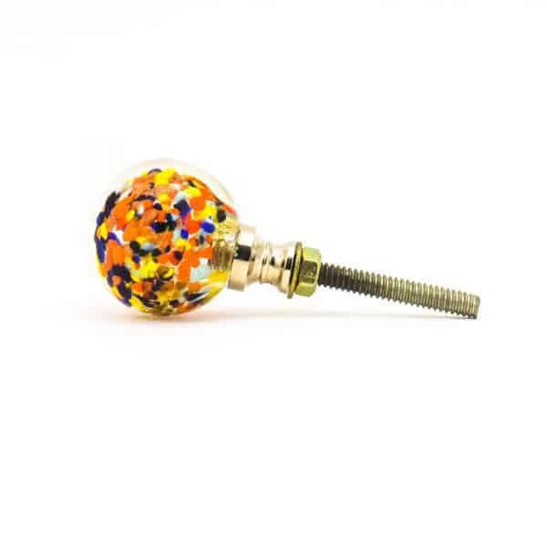 DSC 0812 Multicoloured glass ball knob 600x600 - Mulitcoloured Glass Ball Knob