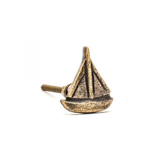 DSC 0819 Antique gold sail boat knob 600x600 - Antique Gold Sail Boat Knob