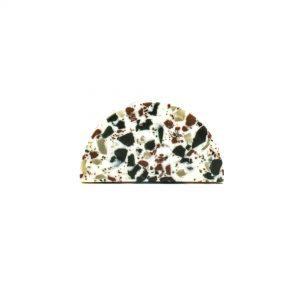 Half moon green speckle terazzo knob 6 300x300 - Half Moon Resin Terrazzo Knob