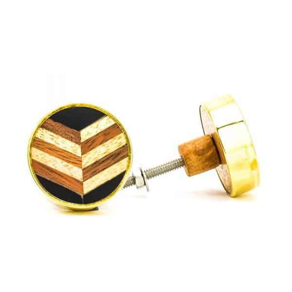 Herringbone and Brass Knob