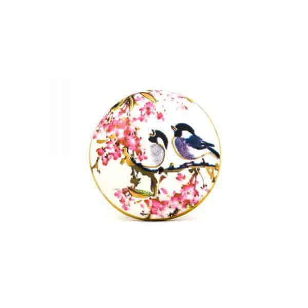 DSC 0146Pink detail bird knob 600x600 - Fairywren and Blossom Knob