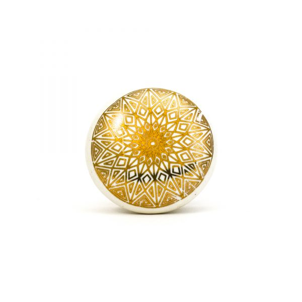 Gold Diamond Mandala Knob