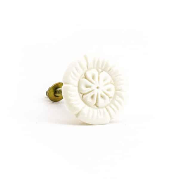 DSC 0956 Round bone  600x600 - Petal Carved  Knob