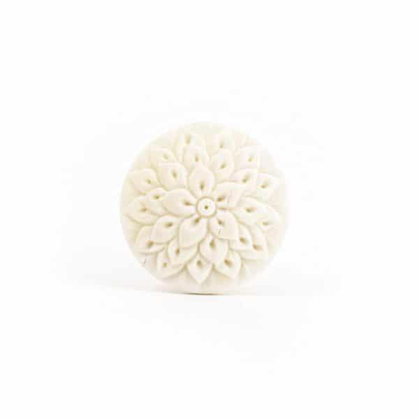 Carved Marigold  Knob