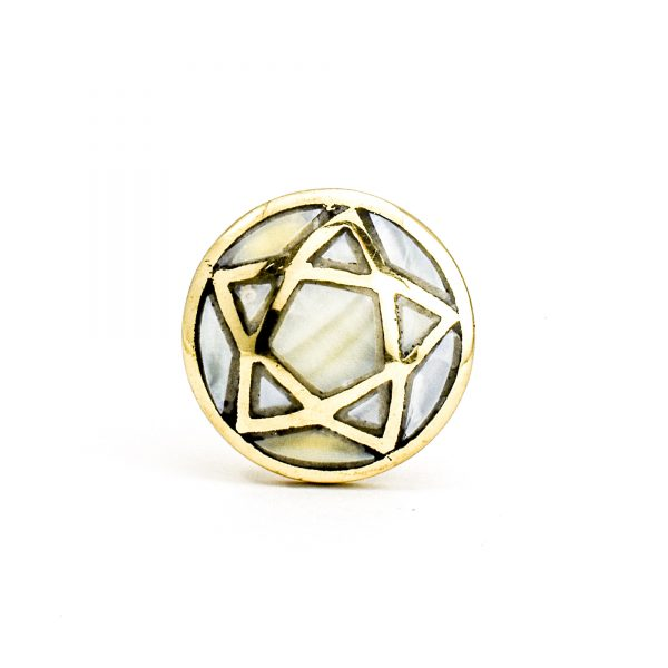 Brass and Shell Star Knob