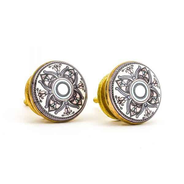 DSC 1004 Gold brass  600x600 - Pastel Floral Mandala Knob