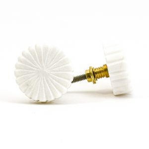 DSC 1012 White marbl 300x300 - Flat Wheel Marble Knob