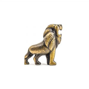 Antique Gold Lion Knob