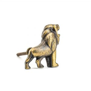 DSC 1032 Antique Gol 300x300 - Antique Gold Lion Knob