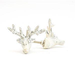 Rustic White Deer Knob