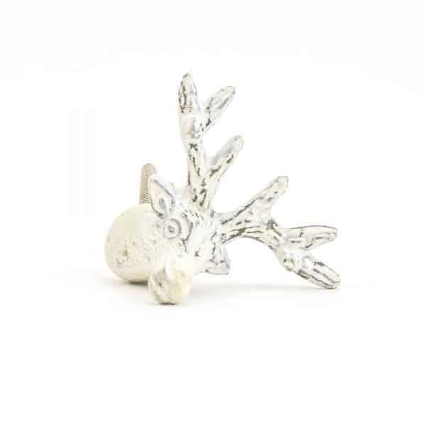DSC 1056 White deer  600x600 - Rustic White Deer Knob