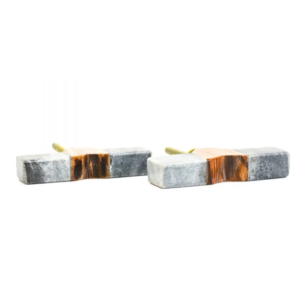 Slim Wedged Grey Marble Pull Bar