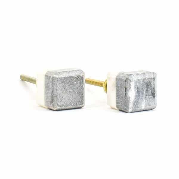 DSC 1115 Two toned w 1 600x600 - Grey Two-Tone Cubed Knob