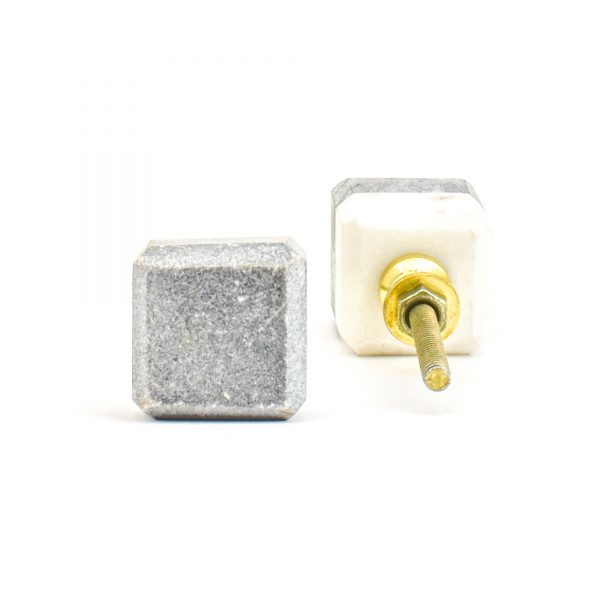 DSC 1118 Two toned w 1 600x600 - Grey Two-Tone Cubed Knob