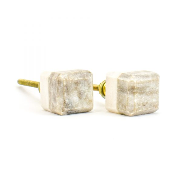 DSC 1122 Two toned w 1 600x600 - Light Brown Two-Tone Cubed Knob