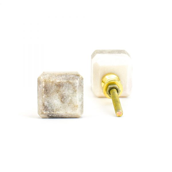 DSC 1124 Two toned w 1 600x600 - Light Brown Two-Tone Cubed Knob