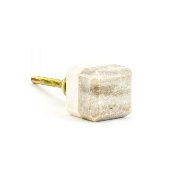 DSC 1126 Two toned w 1 600x600 - Light Brown Two-Tone Cubed Knob