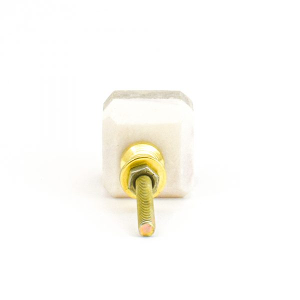 DSC 1128 Two toned w 1 600x600 - Light Brown Two-Tone Cubed Knob