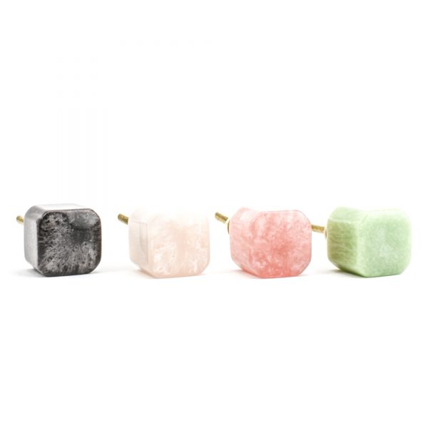 DSC 1136 Dark Grey R 1 600x600 - Coral Resin cube Knob