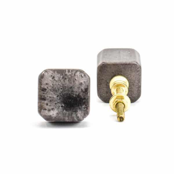 Metallic Cola Resin Cube Knob