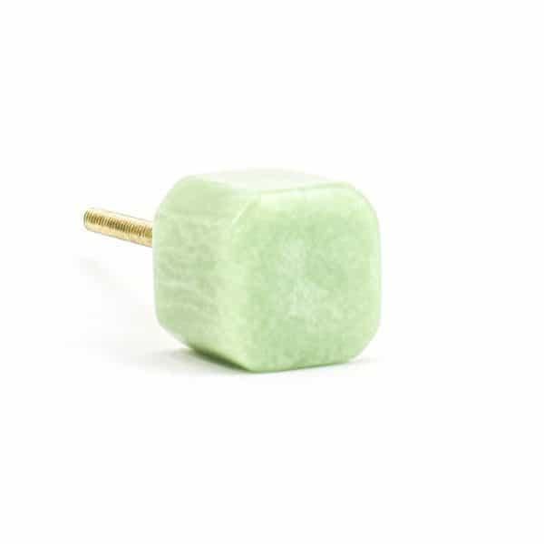 Sage Green Resin Cube Knob