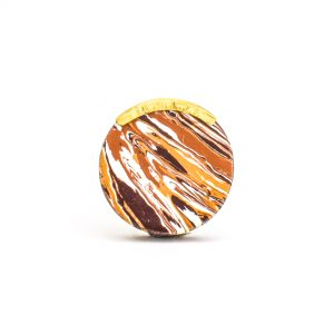 DSC 1199 Round brown 300x300 - Round Desert Knob with Brass Trim