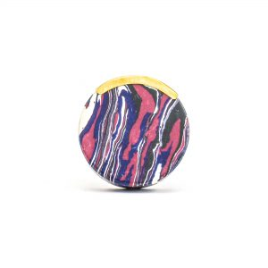 DSC 1256 Round purpl 300x300 - Round Purple Haze Knob with Brass Trim