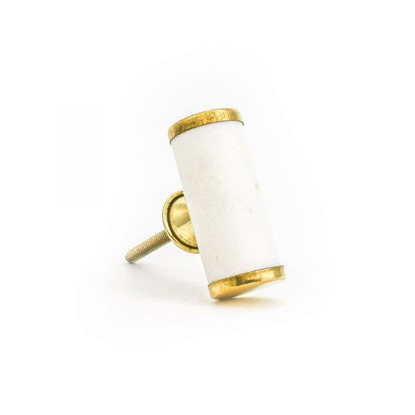 DSC 1285 Brass and w 600x600 - White Marble and Brass Cylinder Pull