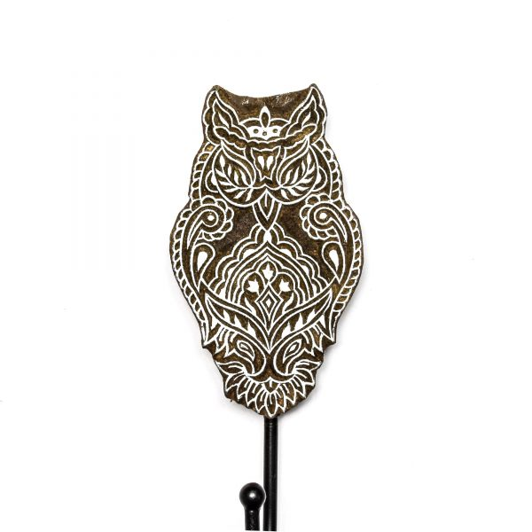 Owl Mandala Wall Hook