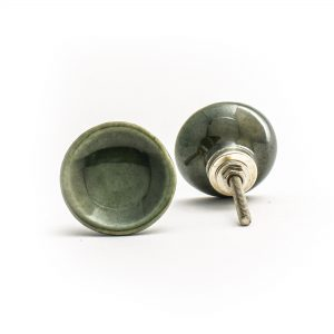 Olive Green Ceramic Disc Knob