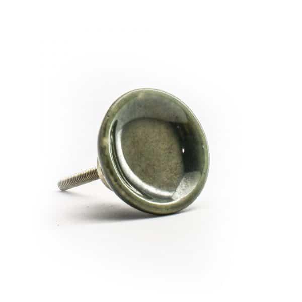 Olive Green Ceramic Disc Knob