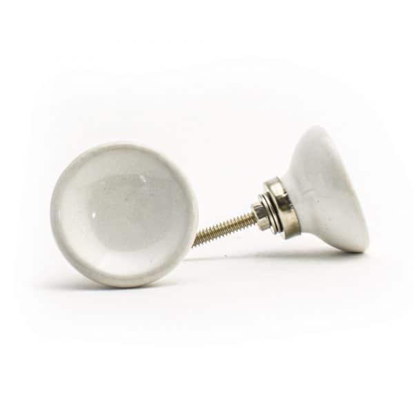 White Ceramic Disc Knob