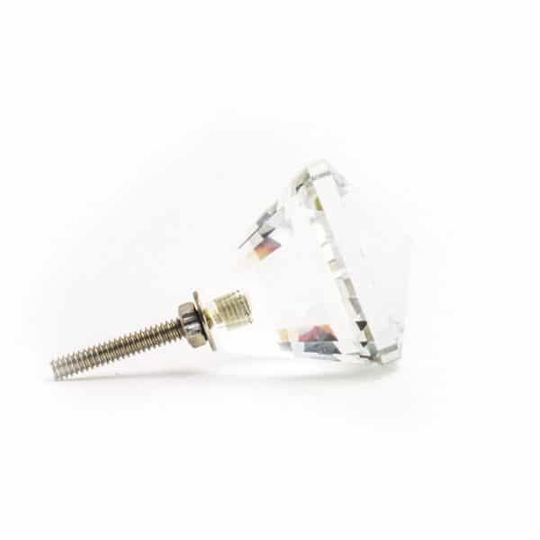 Diamond Cut Glass Knob