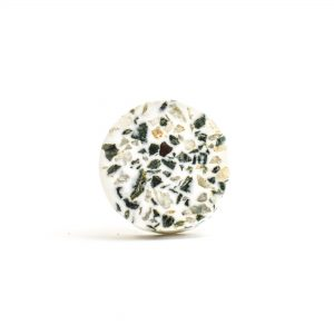 DSC 1452 Circle tera 300x300 - Round Green and Grey Terrazzo Knob