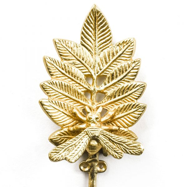 Gold Spring Bee Wall Hook