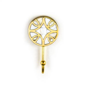 Gold Diamond Inlay Wall Hook