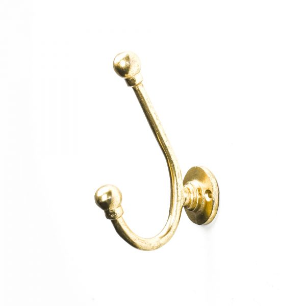 Gold J-Shape Wall Hook