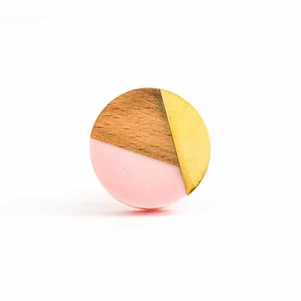 Round Pink Trio Knob